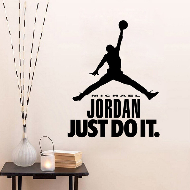 Aliexpress.com : Buy Michael Jordan Play Basketball Quotes JUST DO IT Vinyl Wall  Stickers For Kids Boy Room DIY Art Decal Poster Sofa Wall Decoration From  ... Part 47