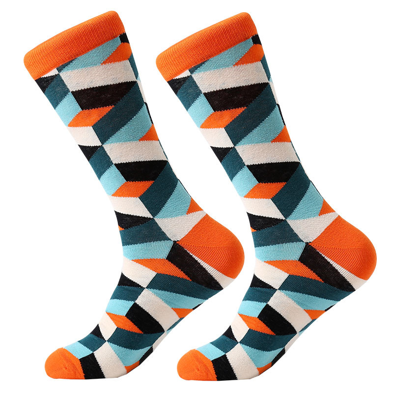 Image 4 - MYORED drop shipping colorful fashion mens socks combed cotton funny crew socks for men Calcetines de hombre-in Men's Socks from Underwear & Sleepwears