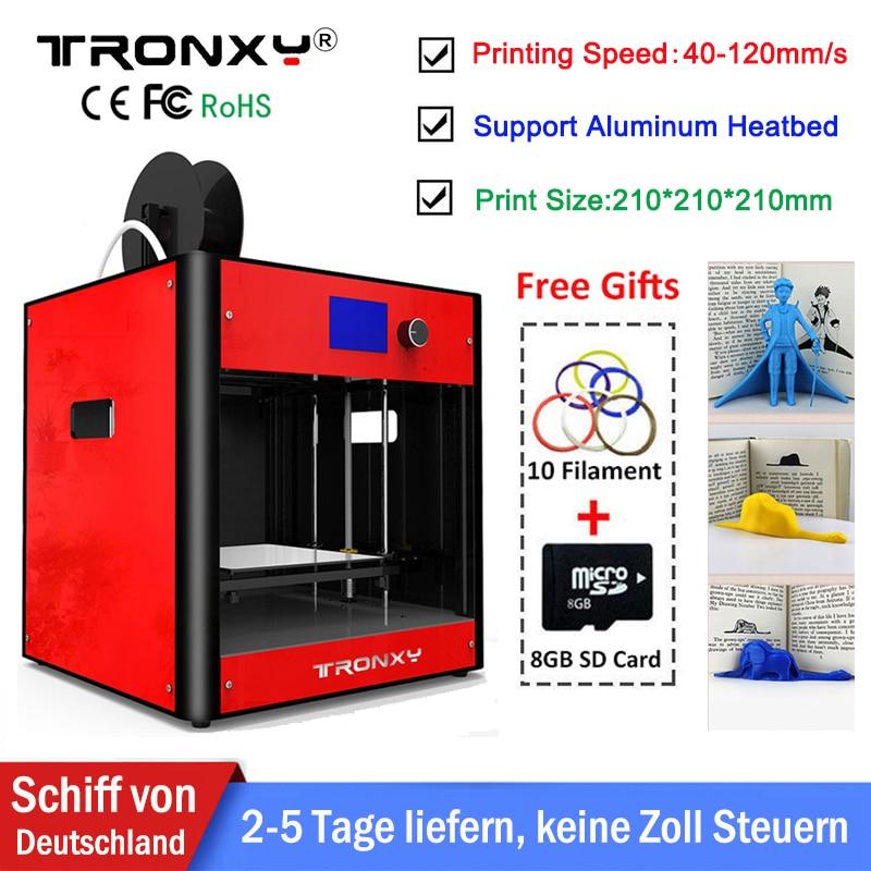 2018 Tronxy 3D Printer Kit Upgraded Metal Full Quality High Precision Reprap i3 DIY LCD Screen Extruder Dual Z Axis Stable Print 2018 upgraded full quality high precision dual extruder 3d printer pla abs