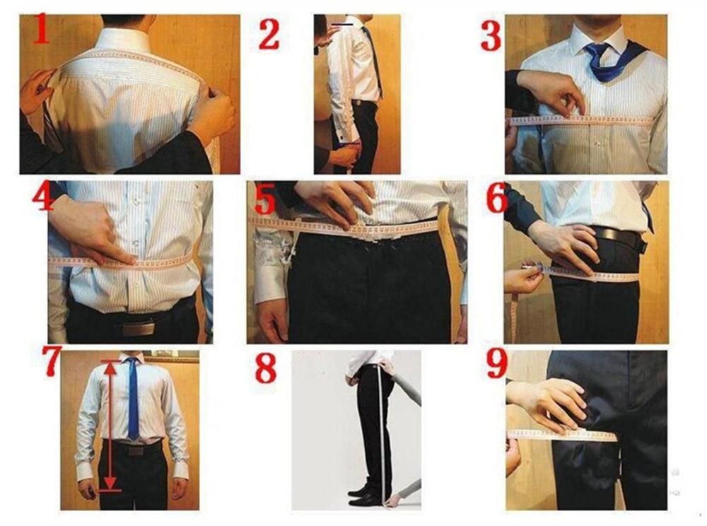 Элегантный серый мужской костюм, смокинг для выпускного, приталенный, 3 предмета (пиджак + жилет + брюки), свадебные костюмы жениха для мужчин, блейзер на заказ - 3