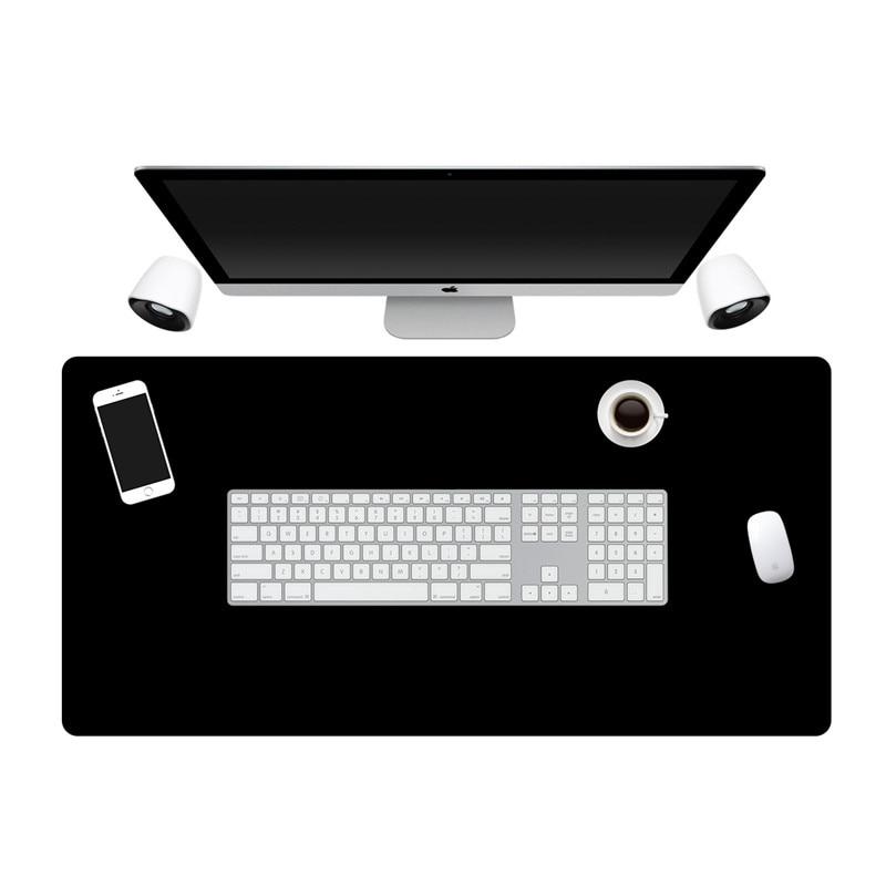 Large Size All Black Gaming Mouse Pad Rubber PC Computer Mousepad Locking Edge Whole Black Office Cushion Super Big Desk Mat