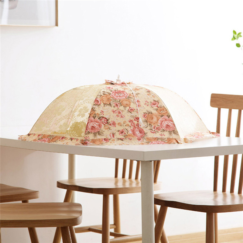 Image 3 - Kitchen Food Umbrella Cover Kitchen Aid Picnic Barbecue Party Fly Mosquito Mesh Net Tent housse table de jardin protection table-in All-Purpose Covers from Home & Garden