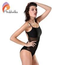 CV Women Beach One Piece Swimsuit Sexy Mesh Backless