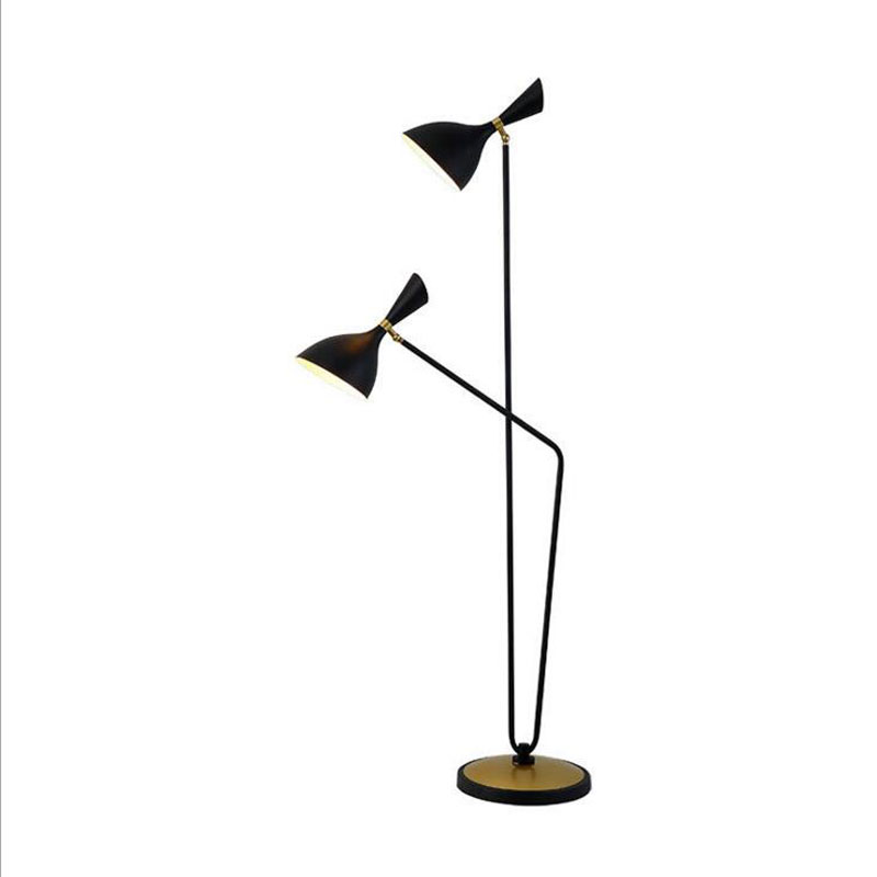 New Nordic fashion simple double bedroom floor lamp post-modern model room study lamp LED lighting fixture led lamps floor lamps coffee table resin 110v 220v e27 led floor lamps simple fashion princess floor lamp vintage living room bedroom lighting