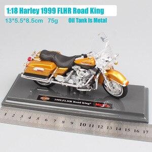 Image 3 - 1/18 skala dzieci maisto mini FLHR Road King odlewany metal model krążownik motocyklowy pojazdy turystyczne zabawki rowerowe dla dzieci