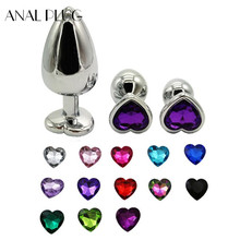 ANAL PLUG Heart Shaped Butt Plug Metal Stainless Steel Buttplug Sex Toys for Woman Men Erotic Tapon Anal Jewel Butt Plugs stainless steel plug anal metal anal speculum butt plug heavy dilatador anal butt plugs anal sex toys for couples adult game