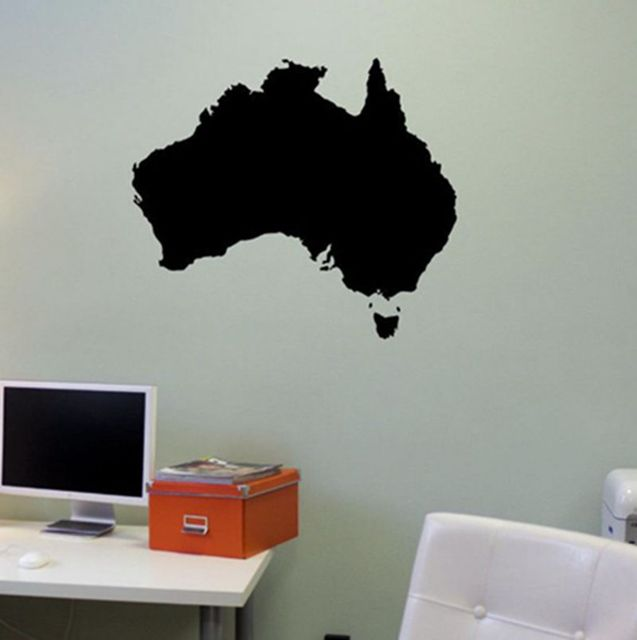 Australia map wall decal world map austalian wall map mural art wall australia map wall decal world map austalian wall map mural art wall sticker office room bedroom gumiabroncs Image collections