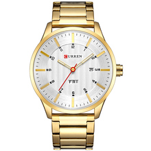 Stainless Steel Business Gold Watch