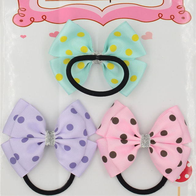 31 Color  Elastic Hair Bands Solid dots  bow PonyTail Holder hair ties Headband Hairband for girl  Hair Accessories