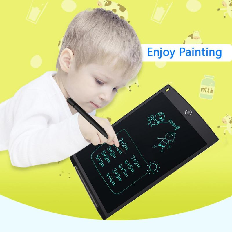 """12"""" Portable Digital Smart LCD Writing Tablet Graphic Board Electronic Notepads eWriter Kids Drawing Painting Pad School Supply"""