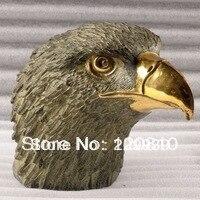 Gratis Verzending 00441'Gilding brons eagle sculptuur standbeeld Parcel Gilt