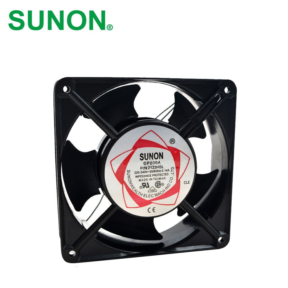 SUNON Free Shipping! New Original Taiwan blower fan  DP200A P/N2123HSL  1238 12CM 12038  120 * 120 * 38MM 220V wire type original fyj 15 yjf 90 or ad 93 type disinfection cabinet blower fan motor