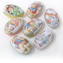 6pcs/lot Large Easter holiday Box Egg Shape Storage Can Chocolate Collect