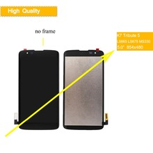 5.0 ORIGINAL Display For LG K7 Tribute 5 LCD Touch Screen Assembly With Frame LS665 LS675 MS330 K330 AS330 K332