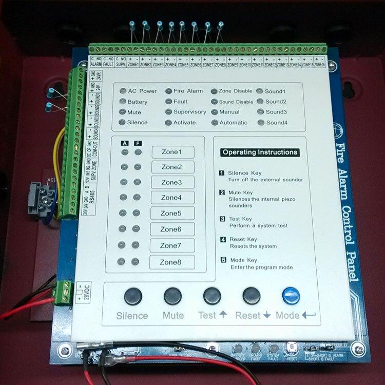 Yangına Dayanıklı Metal Panel Alarm Sistemi Kontrol Paneli 8 - Güvenlik ve Koruma - Fotoğraf 3