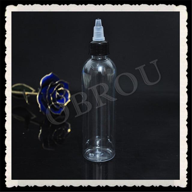 2018 new type 120ml twisted cap bottles, 670pcs empty pet plastic glue bottle by free shipping
