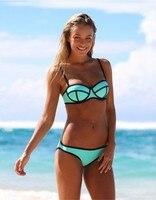 Eastlife Li 2017 New Bikini Suit Sexy Bikini Solid Color Ball Style Swimsuit Split Bikini Swimwear