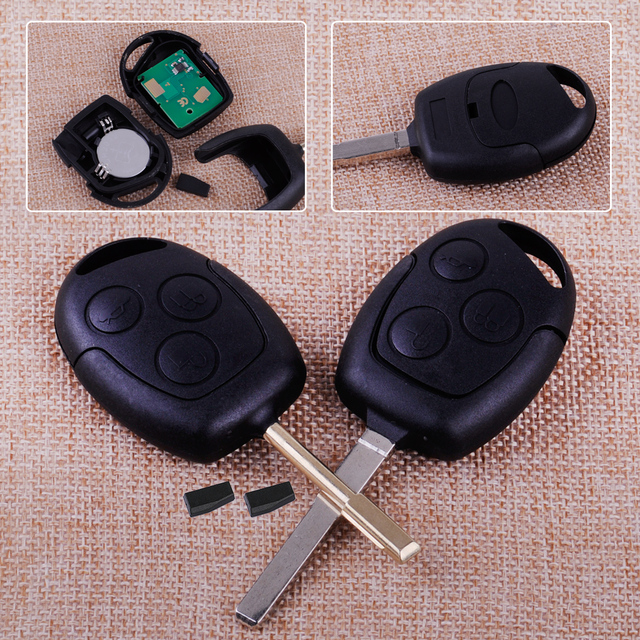 Citall Plastic Mhz  Buttons Car Remote Entry Key With D Chip Replacement Fit For Ford Fiesta Focus Mondeo Ka