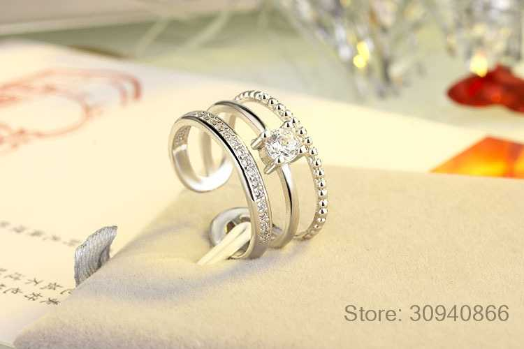 New Arrival 925 Sterling Silver Three Retro Rings for Women Jewelry Fashion Open Adjustable Finger Ring Free Shipping