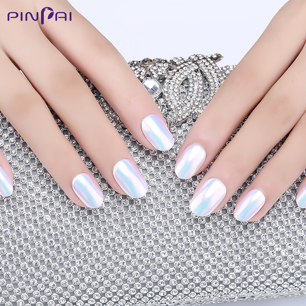 0 5g Box Glitter Pearl Shell Nail Art Powder Chrome Pigment Powder Dust Gel Polish Long Lasting Manicure Nail Tip Decoration in Nail Glitter from Beauty Health