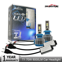 PANYUE T1 Turbo Car Headlight H4 LED Bulbs High Low Beam 70W 8000LM 6000K Auto Canbus