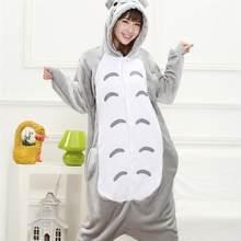 13a33a4b3a4e3 Тоторо Kigurumi Onesie для взрослых для женщин животных пижамы костюм  фланель теплые мягкие Onepiece зимний комбинезон