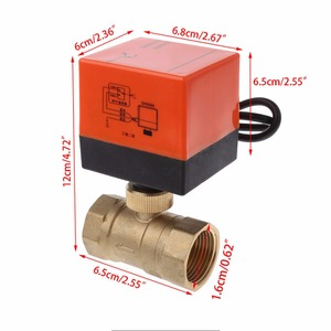 Image 2 - DN15/DN20/DN25 Electric Motorized Brass Ball Valve DN20 AC 220V 2 Way 3 Wire with Actuator