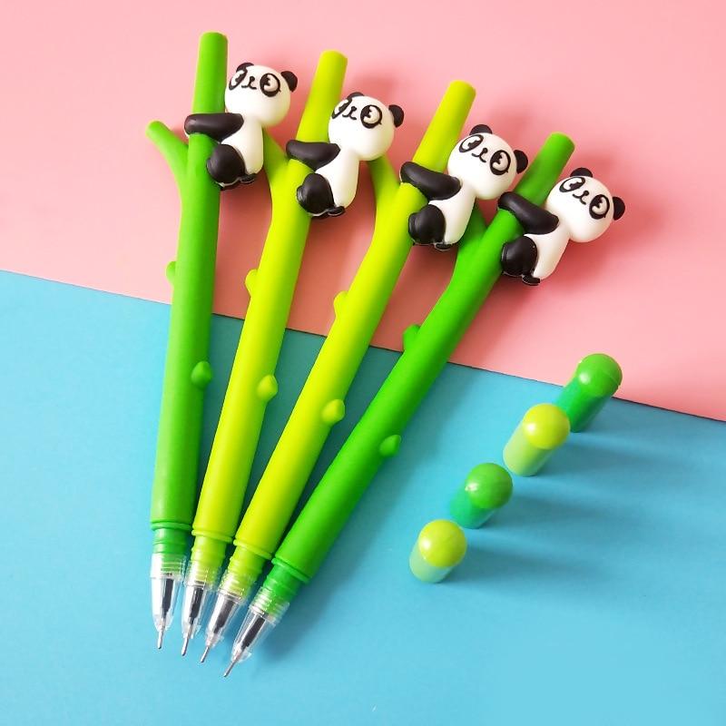 Creative Cute Cartoon Panda Bamboo Neutral Pen Writing Office School Supplies Stationery Children Gifts