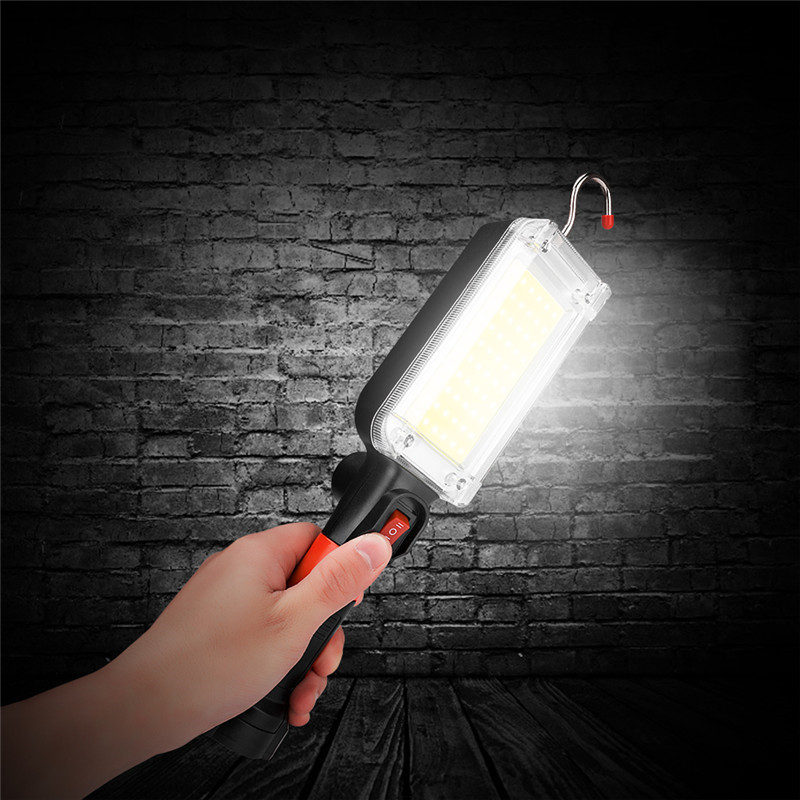 NEW LED Work Flashlight USB Charging Magnetic Hook Clip Torch Light 20W COB Portable Spotlight Outdoor Camping Worklight Lamp