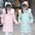 Das crianças 2016 inverno new children's jaqueta meninas grandes na versão Coreana da jaqueta meninas para baixo longos e grossos casaco