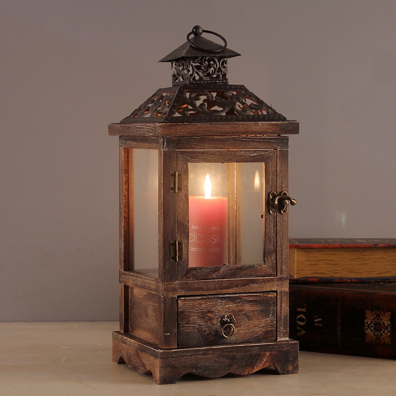 Vintage House Model Christmas Gift Candle Holder Lantern Candlestick Home Candle Rack Wedding Gifts New Year Decor CraftsVintage House Model Christmas Gift Candle Holder Lantern Candlestick Home Candle Rack Wedding Gifts New Year Decor Crafts
