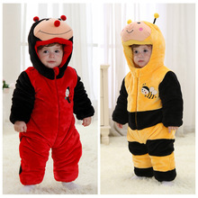 Cute inset costume cartoon rompers clothing for baby kids wear photography and warm for winter