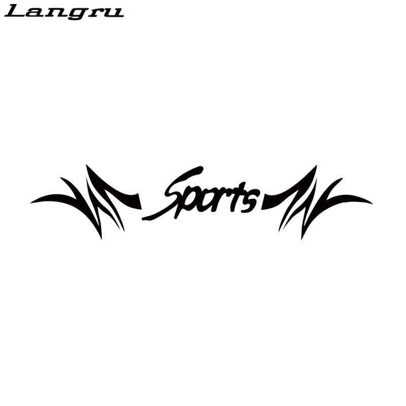 Langru Car Racing SPORTS Flames Windshield Decal Vinyl