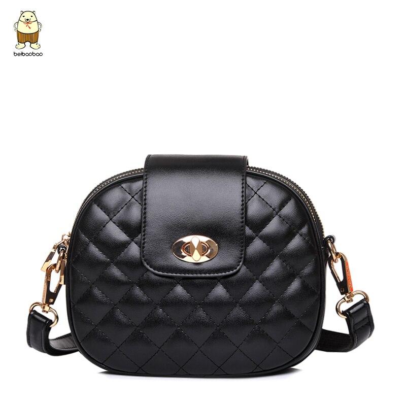 Women bag 2017 Fashion High Quality Diamond Lattice Chain Around Mini Lolita bag Ladies leather Messenger bags Sweet Women Shoul
