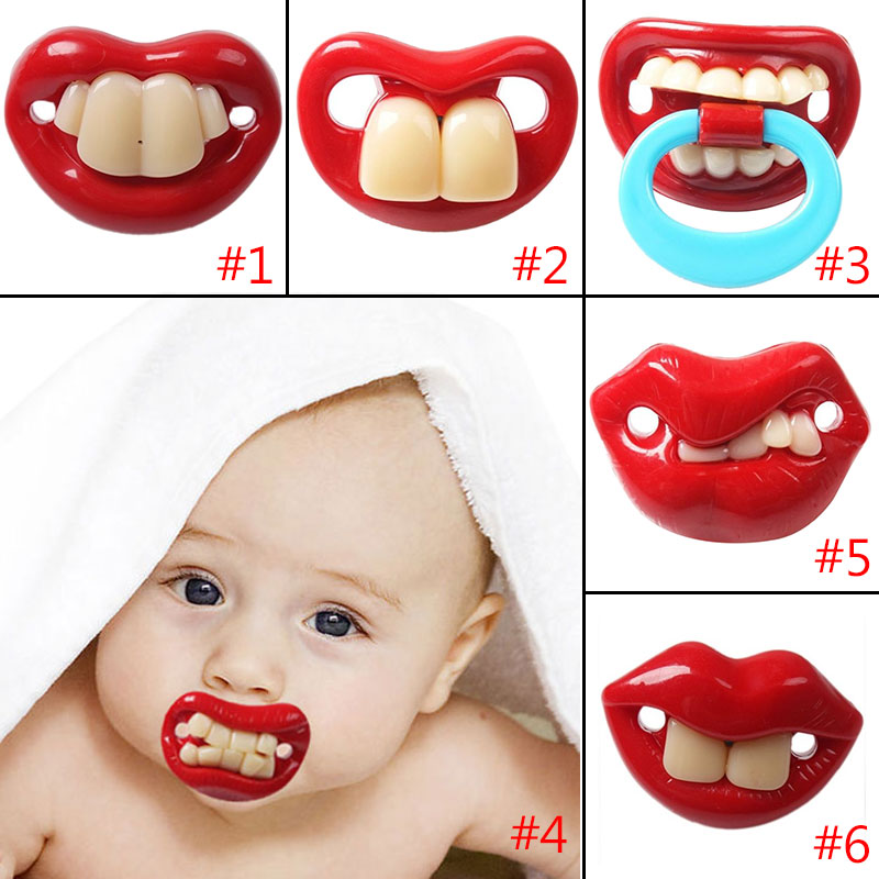 Top Silicone Funny Nipple Dummy Soother Joke Prank Toddler Pacy Orthodontic Nipples Teether Baby Pacifier Care High Qual @ S7JN baby pacifier soother silicone dummy baby biter teether soother nipples t026