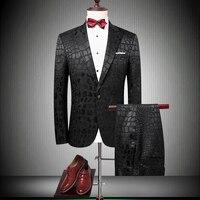 Высокое качество брендовые Свадебные Черный Для мужчин костюмы Slim Fit пиджаки жениха Пром костюм мужской смокинги Пром вечерние модный кост
