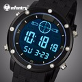 INFANTRY Quartz Watches Men Luxury Brand LED Digital Watches Men's Waterproof Army Military Sports Wristwatch Relogio Masculino