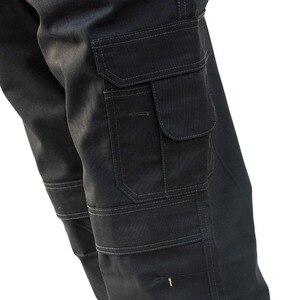 Image 5 - Мужские брюки карго высокой прочности, с несколькими карманами, парусиновые брюки, повседневная одежда для работы, военные тактические длинные брюки полной длины, ID627
