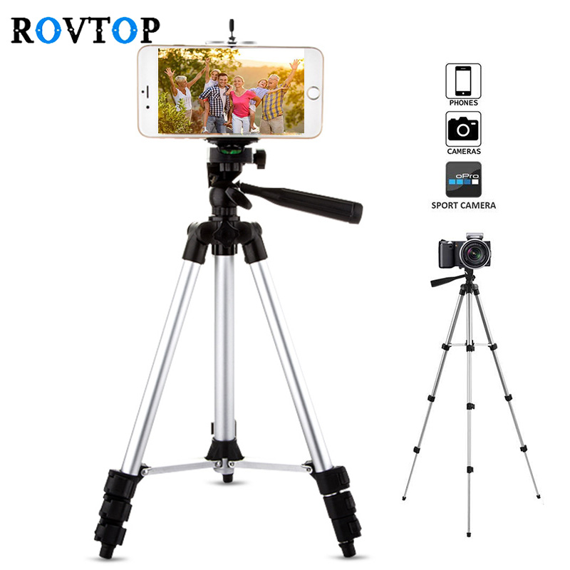 Rovtop Portable Adjustable Tripod Flexible Stand Mount Holder Clip Set Universal Tripods for Phone Camera for iphone Samsung Z2(China)