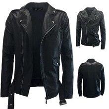 Новая зимняя мужская кожаная куртка, пальто, Классическая Кожаная Мотоциклетная повседневная одежда, chaqueta cuero hombre Moto, винтажная черная, белая