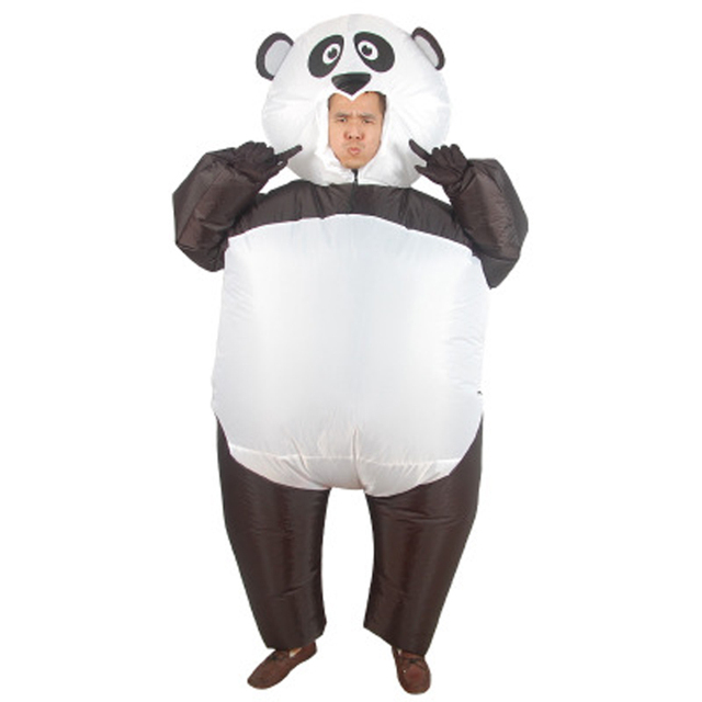 New Style Inflatable Panda Costume Blow Up Fatsuit Animal Safari Adult  Fancy Dress Party Purim Inflatable