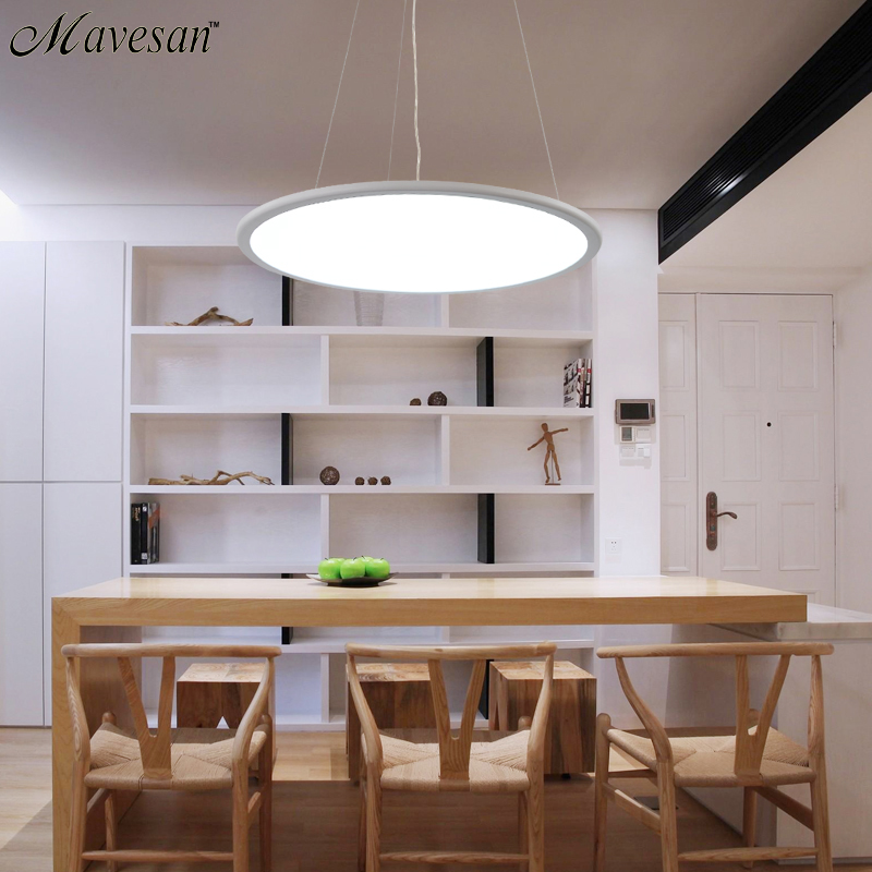 Modern Led Pendant Lamps for dinning Room Acrylic round circle hanging lamp 85-265V led dining room kitchen pendant light modern led pendant lamps for dinning room acrylic round circle hanging lamp 85 265v led dining room kitchen pendant light