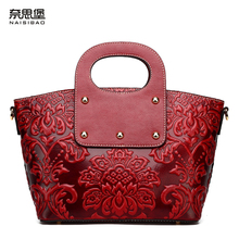 NAISIBAO2015 new summer retro fashion female package Leisure leather hand bag shoulder bag free shipping