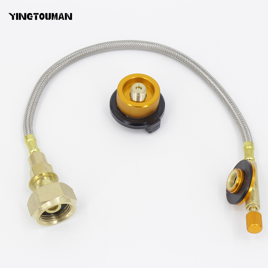 Connector Acoplador del cilindro Valvula neumatica Recarga de gas con adaptador