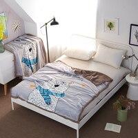 Cute Bear Cartoon Kids Blankets For Beds Xmas Gift Winter Warm Thick Fleece Blanket Super Soft