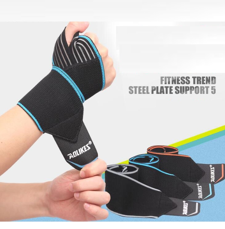 Prix pour Expédition rapide 2 pcs Poids De Levage Bracelet Sport Sécurité Support de Poignet Gym Formation Poignet Sangles Fitness Bandage Wraps
