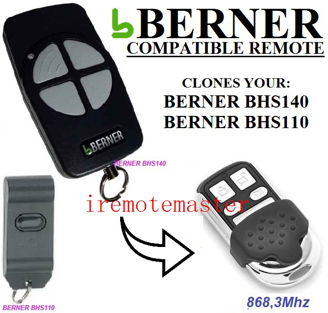 BERNER BHS140,BHS110 Garage Door Remote Control Replacement Free Shipping