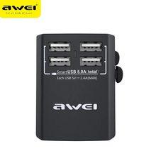 AWEI  universal adaptor travel charger multi-function smart charging gift customization for huawei xiaomi vivo