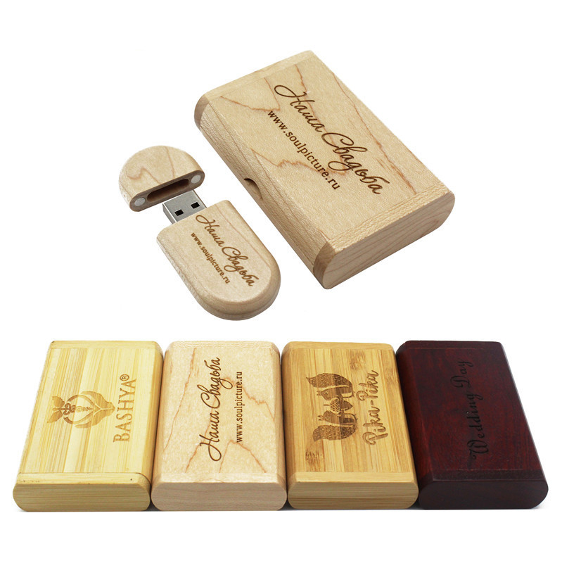 Binful Flash-Drive Usb-Stick Logo Usb Wood Customize 32GB 16GB 8GB 4GB Maple