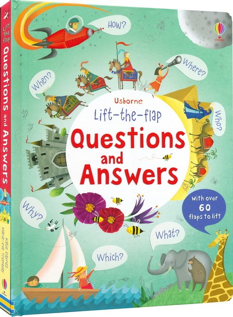 Usborne lift the flap Questiones and Answers English Educational Picture  Books Baby Childhood learning reading gift-in Books from Office & School